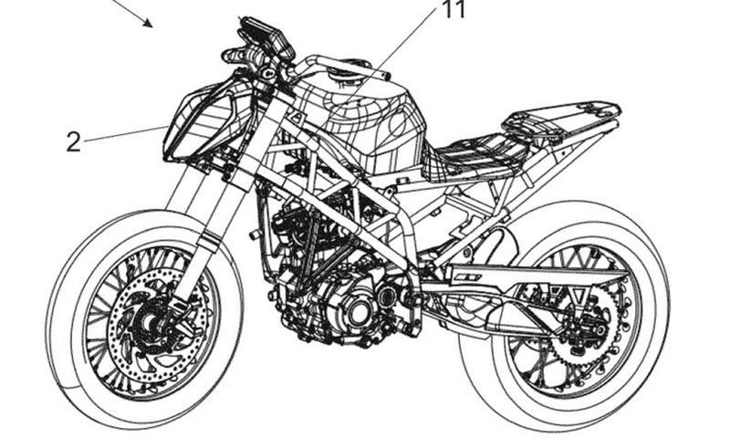 KTM 390 Duke radar patent - hình 1